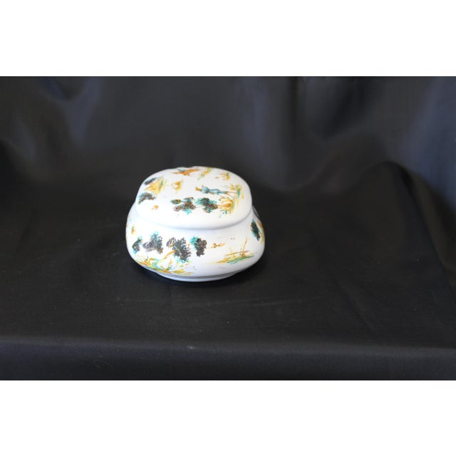 Late 20th Century Vintage Ernan Albisola Italian Ceramic Lidded Trinket Box For Sale - Image 5 of 11