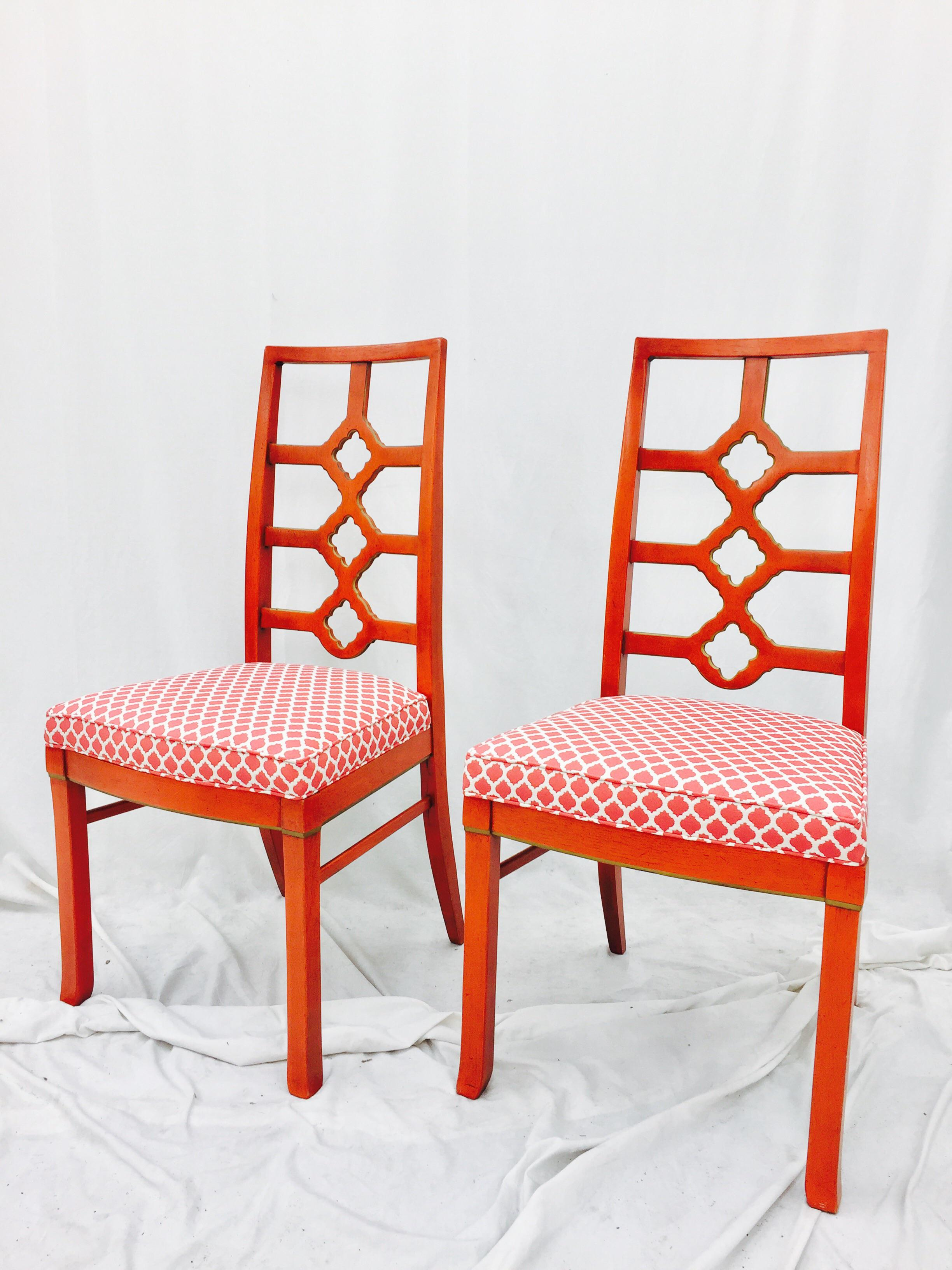 hollywood regency style furniture. Wonderful Furniture MidCentury Modern Hollywood Regency Style Side Chairs  A Pair For Sale  Image Hollywood Regency Style Furniture