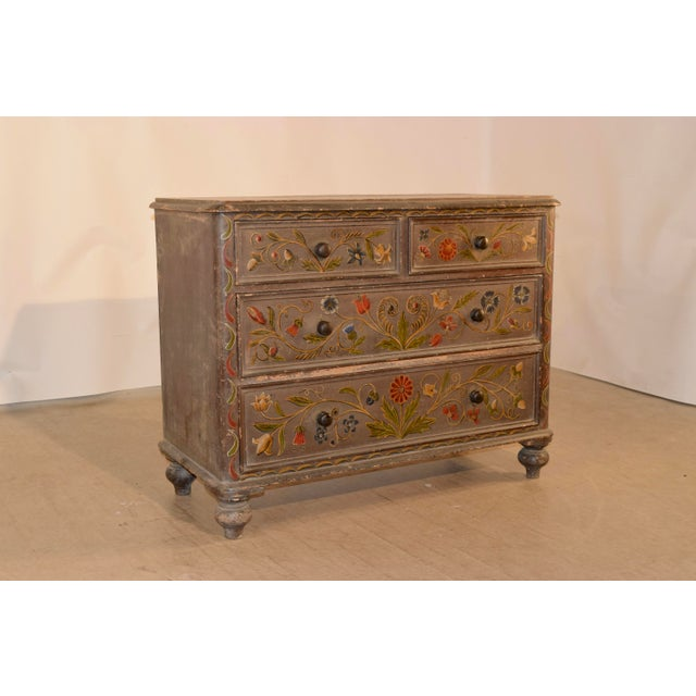 19th Century Painted Chest of Drawers For Sale - Image 10 of 10