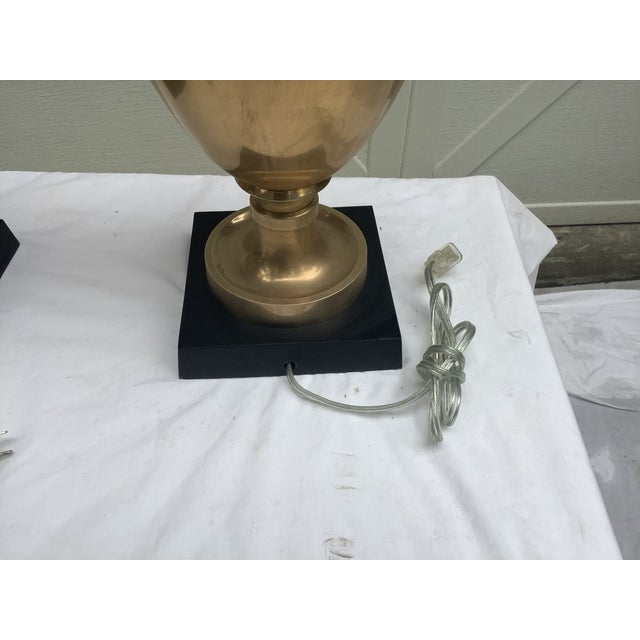 Chapman Brass Urn Lamps, a Pair For Sale - Image 10 of 12