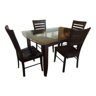 Solid Wood Dining Set - 4 Chairs