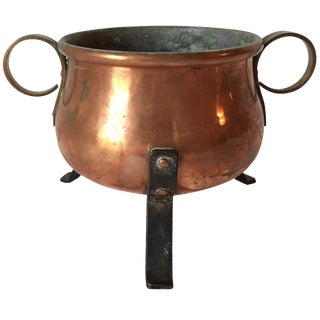 Vintage Swedish Copper Bowl For Sale