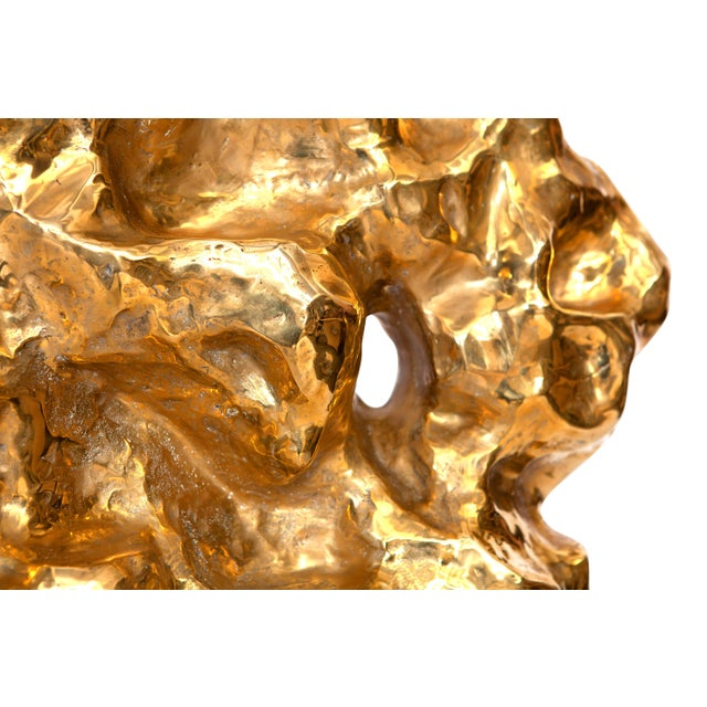 Organic Hand Casted Bronze Sculpture For Sale - Image 4 of 11