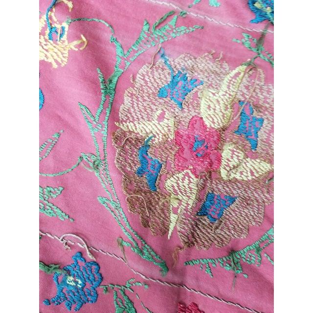 Textile Vintage Turkish Bokara Suzani Blanket For Sale - Image 7 of 11
