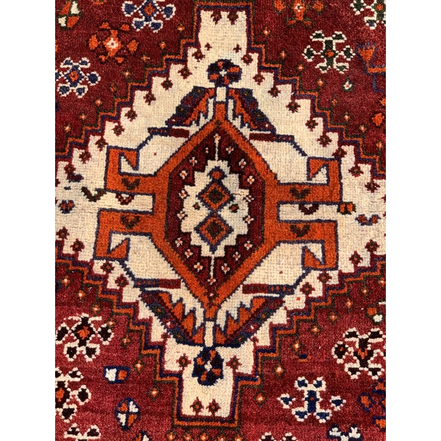 This is a gorgeous old vintage Heriz Heriz rugs are Persian rugs from the area of Heris, East Azerbaijan in northwest...