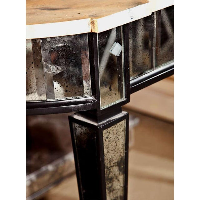 Maison Jansen Maison Jansen Mirrored Demilune Console Table For Sale - Image 4 of 6