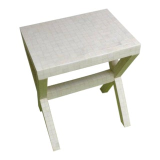 1970s Modern Enrique Garces Tessellated Bone Side Table For Sale