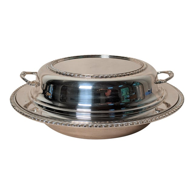 Epc 1940s Silver Plate Serving Dish For Sale