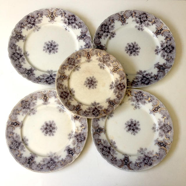 Purple 1900s Wood and Son Keswick Purple Plate Collection - 4 Pieces For Sale - Image 8 of 8