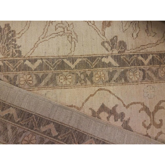 "Kafkaz Peshawar Vicky Ivory & Tan Wool Rug - 10'2"" x 13'11"" For Sale In New York - Image 6 of 7"