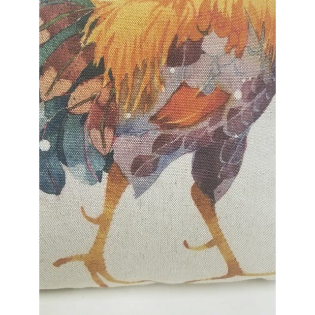 Textile Rooster Pillow -Made in Wales, United Kingdom For Sale - Image 7 of 11