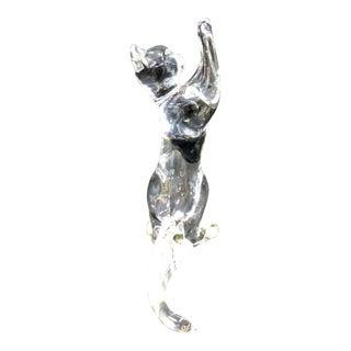 Baccarat Crystal Acrobat Cat Figurine
