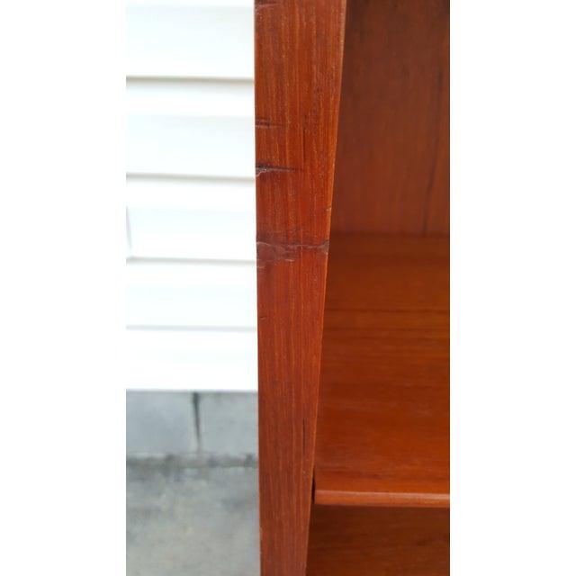1960s Danish Modern Graduated Teak Bookcase Shelf For Sale - Image 11 of 12