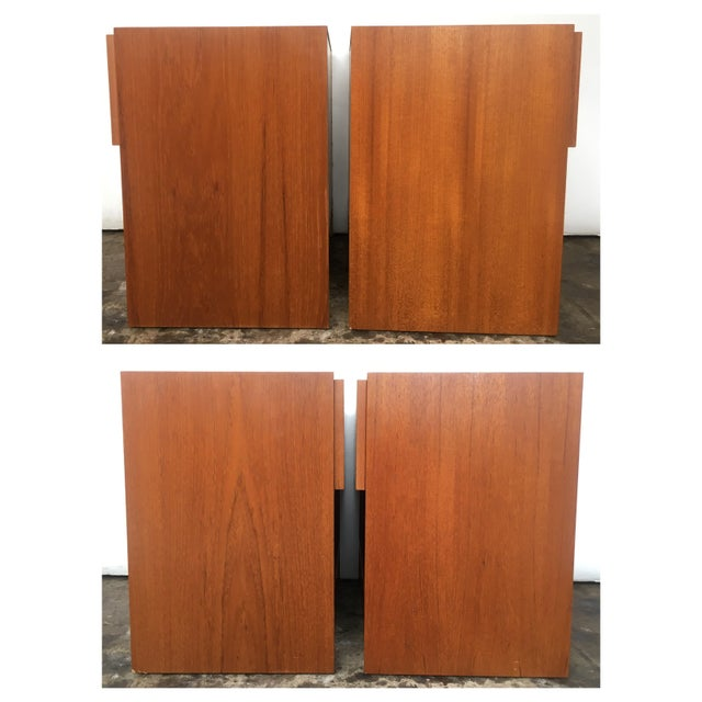 1960s Mid Century Modern Teak Nightstands - Pair For Sale - Image 4 of 7