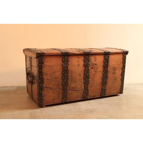 18th Century Oak & Iron Danish Coffer For Sale - Image 9 of 10