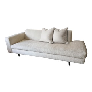 Mid-Century Nathan Anthony Newman Collection Bumper Sofa & Accent Pillows For Sale