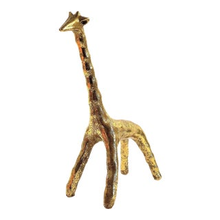 Gold Giraffe Resin Sculpture