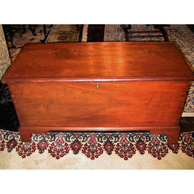 18c Pennsylvania Cherrywood & Cedar Blanket Chest For Sale - Image 10 of 10