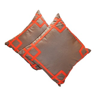 Beth Lacefield Fretwork Pillows (Indoor / Outdoor) a Pair