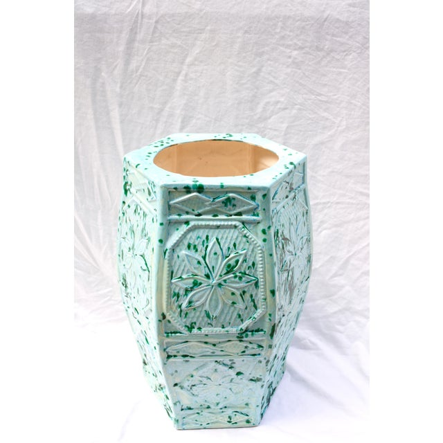 1960s Turquoise Blue Umbrella Stand or Planter - Image 2 of 6