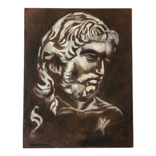 Vintage Drawing of Roman Man For Sale