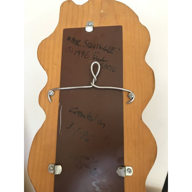 Boho Chic Squiggle Mirror San Francisco Artist Made For Sale - Image 3 of 4