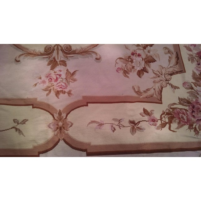 Floral Aubusson Wool Rug - 7′12″ × 9′10″ - Image 3 of 8