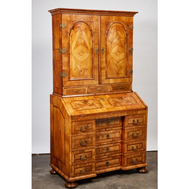 Brown Late 17th Century Northern European Walnut Secretary For Sale - Image 8 of 10