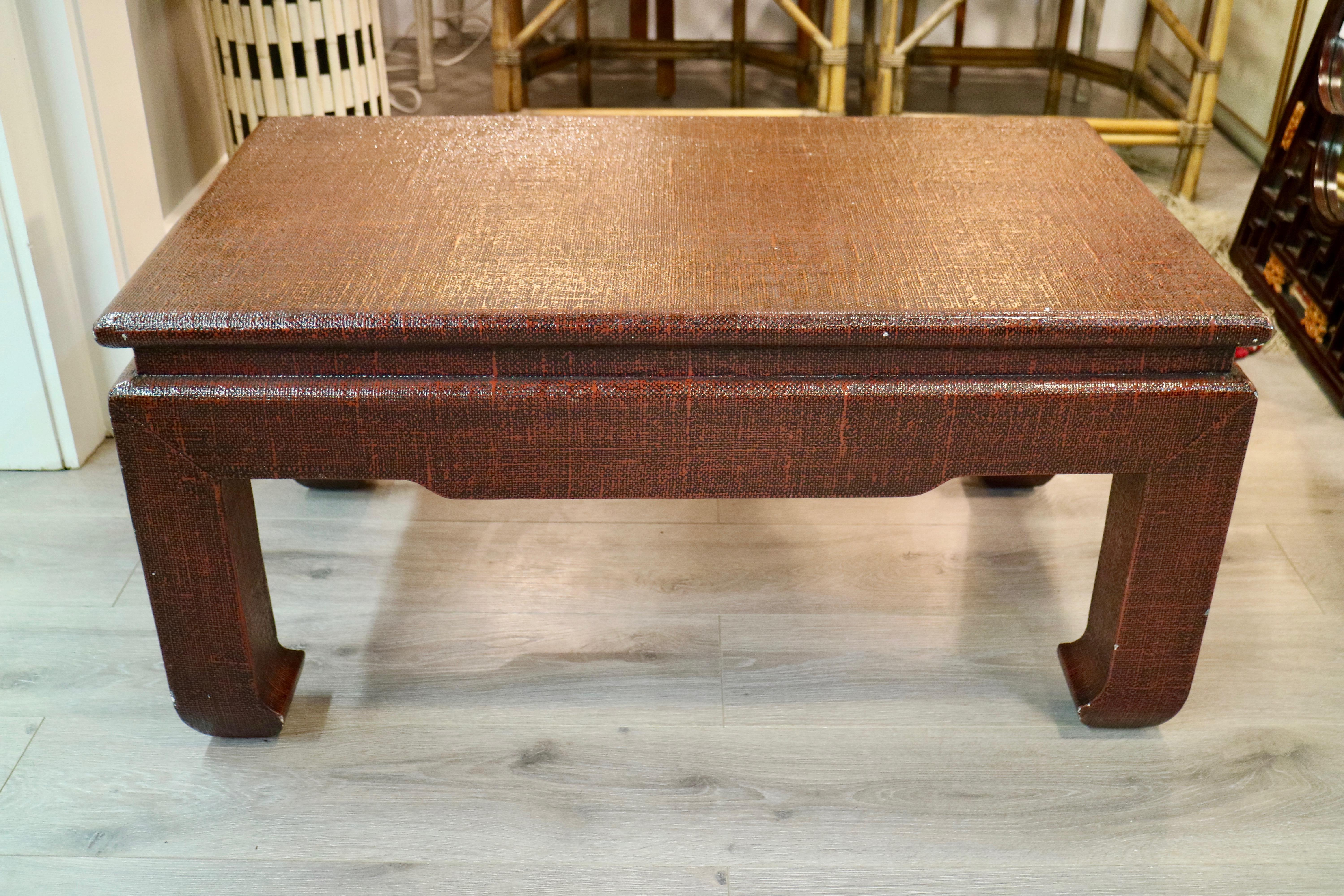 Linen Wrapped Coffee Table   Image 2 Of 7