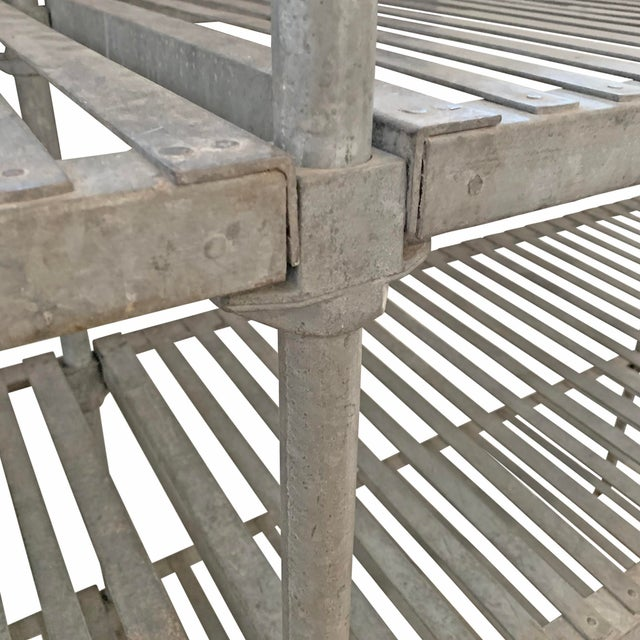 Early 20th Century 20th Century French Industrial Galvanized Zinc Shelving For Sale - Image 5 of 10