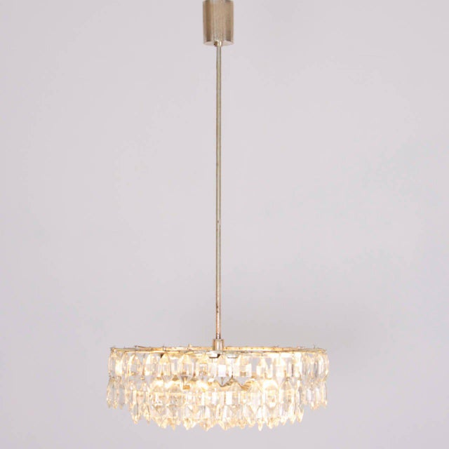 1960s Stunning Crystal Glass Bakalowits Chandelier For Sale - Image 5 of 5