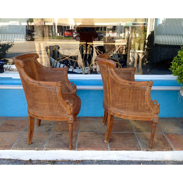 Pair of Louis XVI Style Armchairs For Sale In West Palm - Image 6 of 13