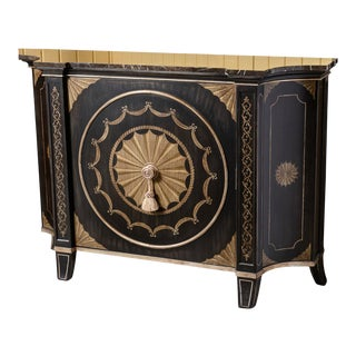 Black Marble Top Cabinet For Sale