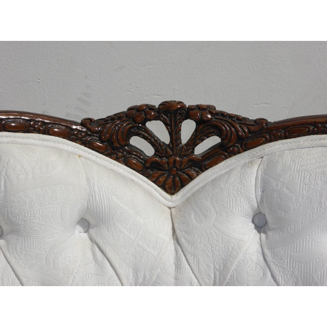 White White French Rococo Ornate Chair For Sale - Image 8 of 11