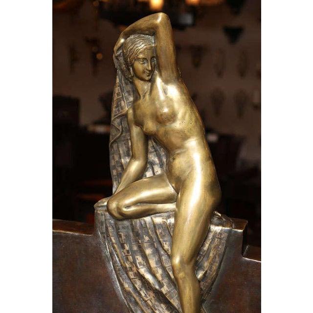 Art Deco Art Deco Figural Lamp by Fanny Rozet For Sale - Image 3 of 10
