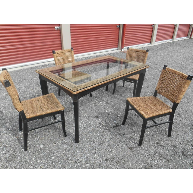 Modern Tommy Bahama Woven Cord Dining Set - 5 Pieces For Sale - Image 3 of 7