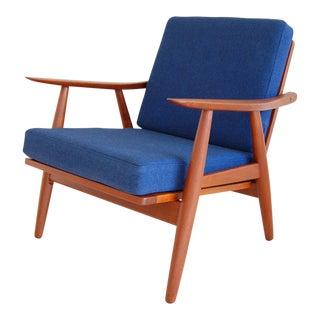 Hans Wegner for Getama Danish Modern Ge-270 Teak Lounge Chair For Sale