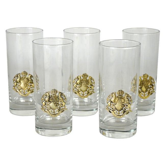 Vintage Crest Cocktail Glasses - Set of 5 - Image 1 of 4