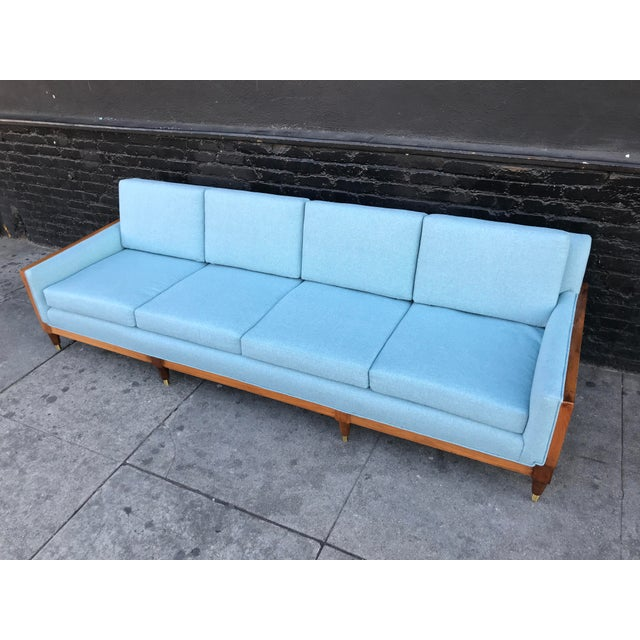 Mid-Century Modern Vintage Mid Century Long Sofa For Sale - Image 3 of 13