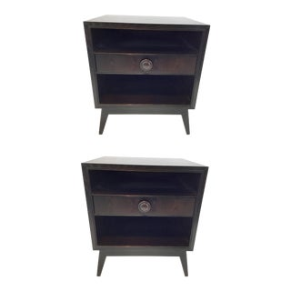 Mid-Century Modern Style Hickory Chair Val Side Tables Pair For Sale