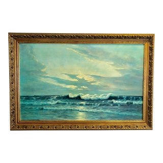 1960s Vintage Florida Sea Giclee on Canvas Print For Sale