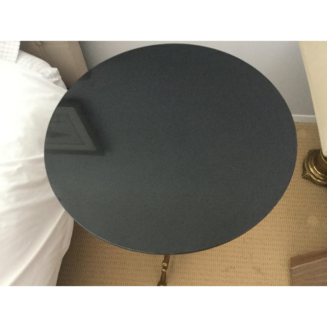 Brass & Black Marble Side Table - Image 3 of 10