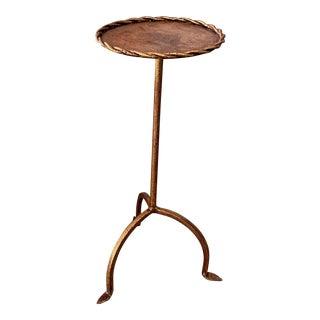 Vintage Spanish Gilt Iron Martini Table For Sale