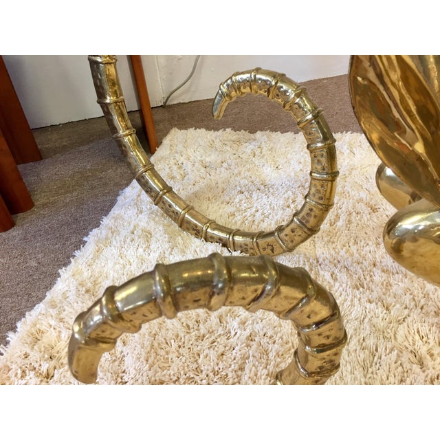 Alain Chervet Solid Brass Vintage Ibex Dining Table For Sale - Image 4 of 14
