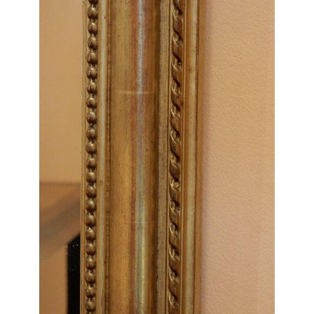 French 19th C. French Gold Leaf Mirror For Sale - Image 3 of 7