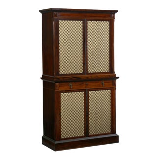 Circa 1880 Rare English Rosewood Antique Humidor Cabinet by Mellier & Co For Sale