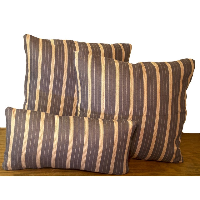 Rogers & Goffigon Linen Striped Pillows - S/3 - Image 2 of 5