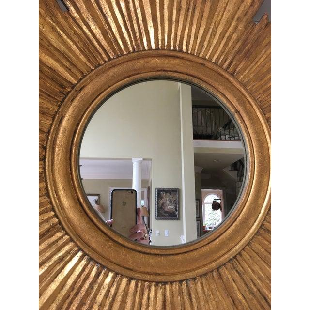 Gilt Wood Sunburst Mirror For Sale In Charlotte - Image 6 of 13