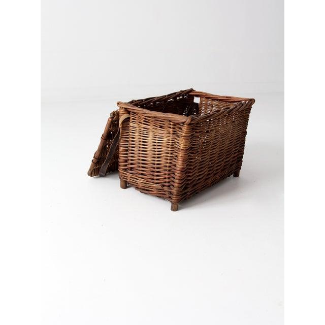 Antique Wicker Fishing Basket - Image 9 of 11