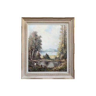 Mountain Lake by Hans Werner For Sale